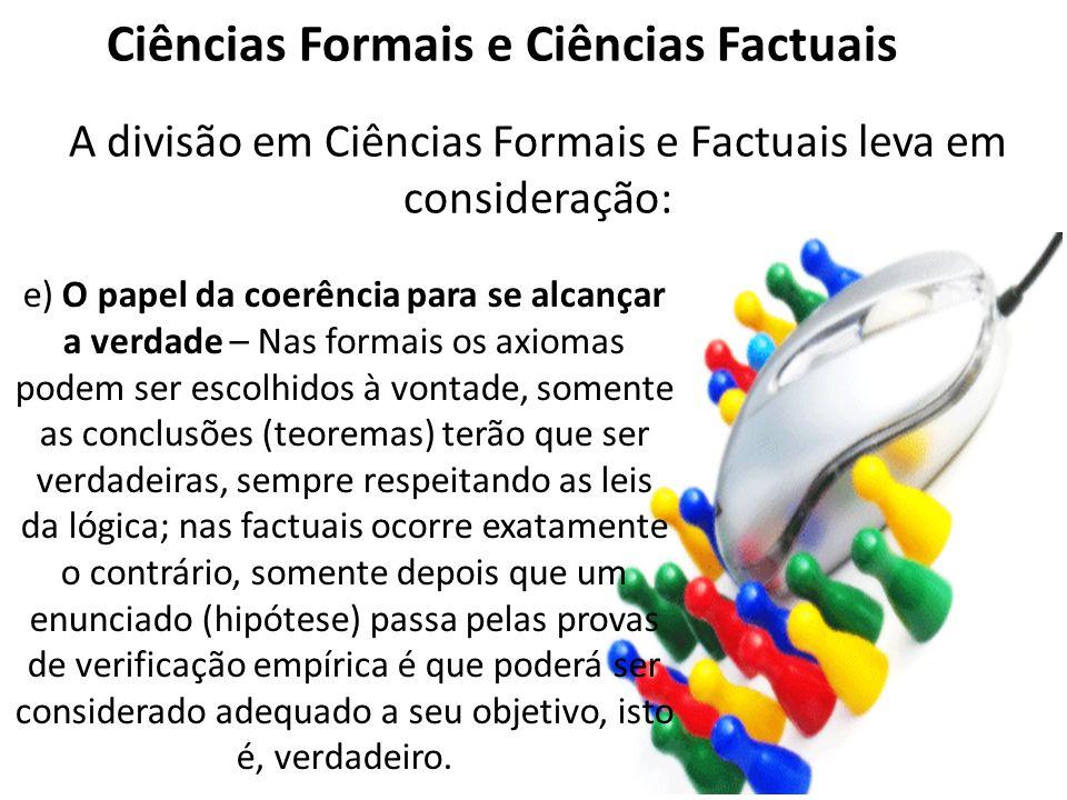 Ciências Formais e Ciências Factuais
