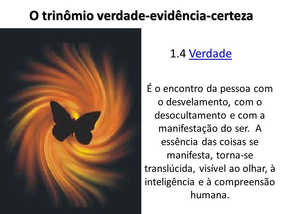 O trinômio verdade-evidência-certeza