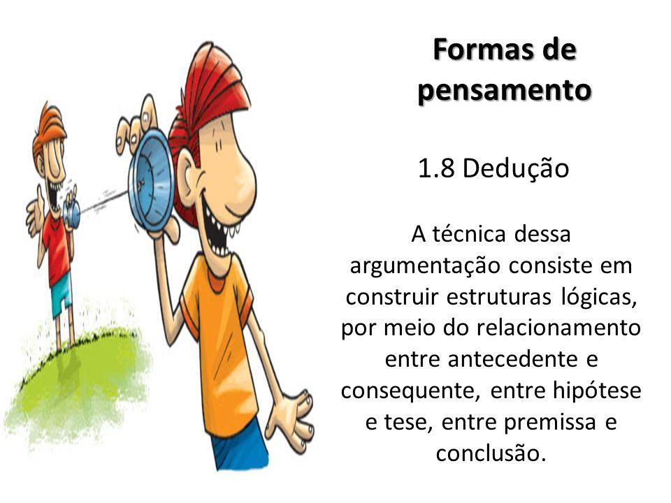 Formas de pensamento 1.8 Dedução