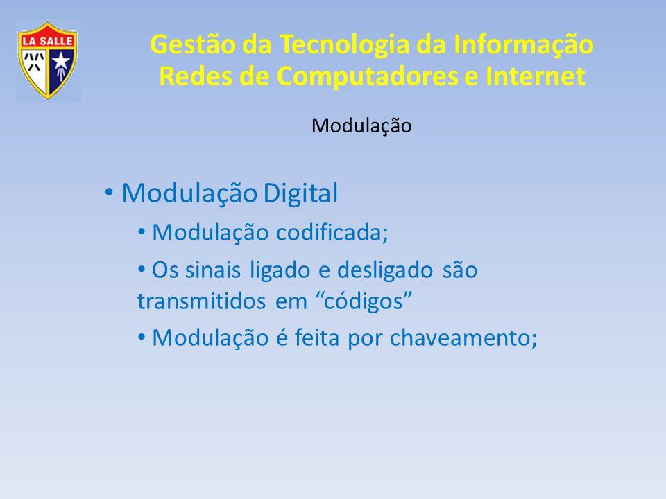 Modulação Digital Modulação codificada;
