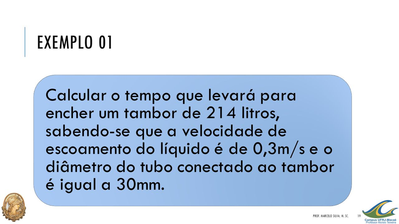 Exemplo 01 Prof. Marcelo Silva, M. Sc.