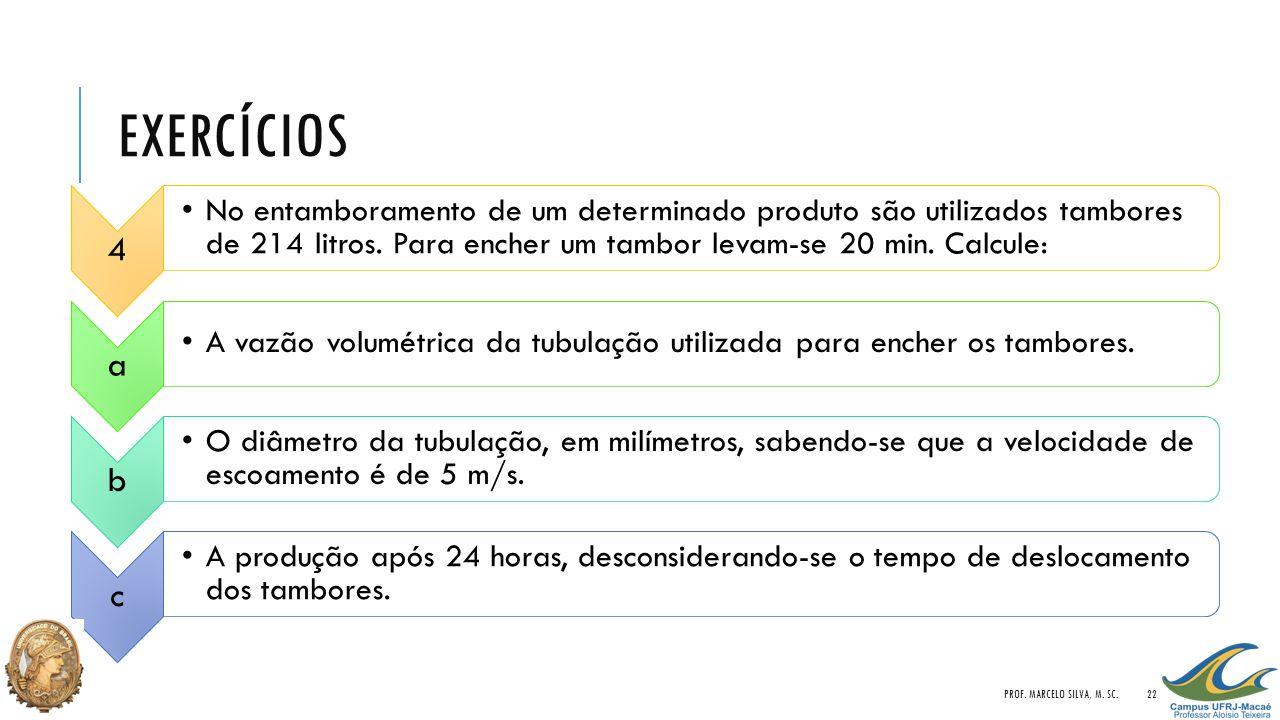 Exercícios Prof. Marcelo Silva, M. Sc. 4