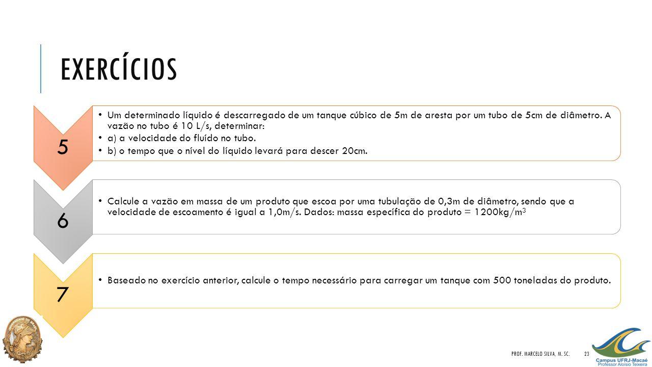 Exercícios Prof. Marcelo Silva, M. Sc. 5