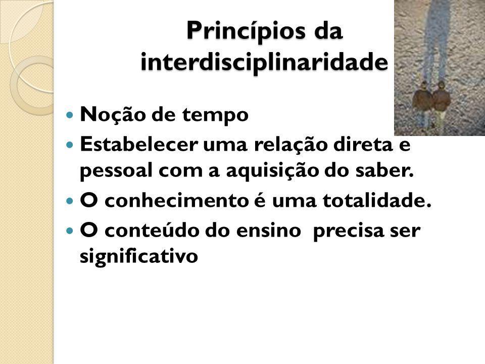 Princípios da interdisciplinaridade