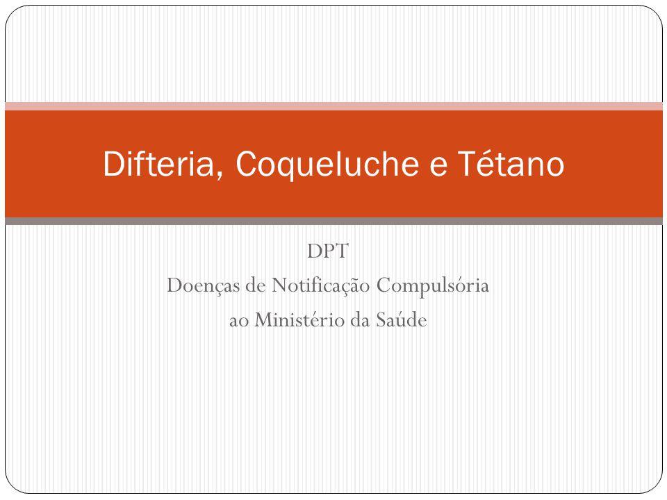 Difteria, Coqueluche e Tétano