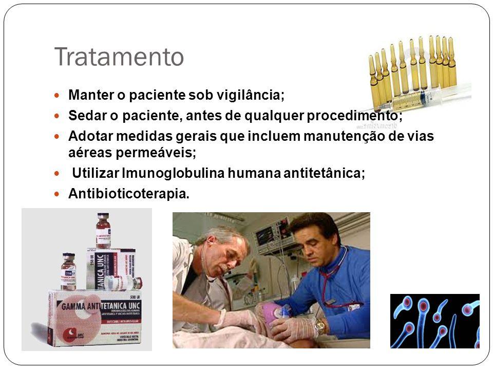 Tratamento Manter o paciente sob vigilância;