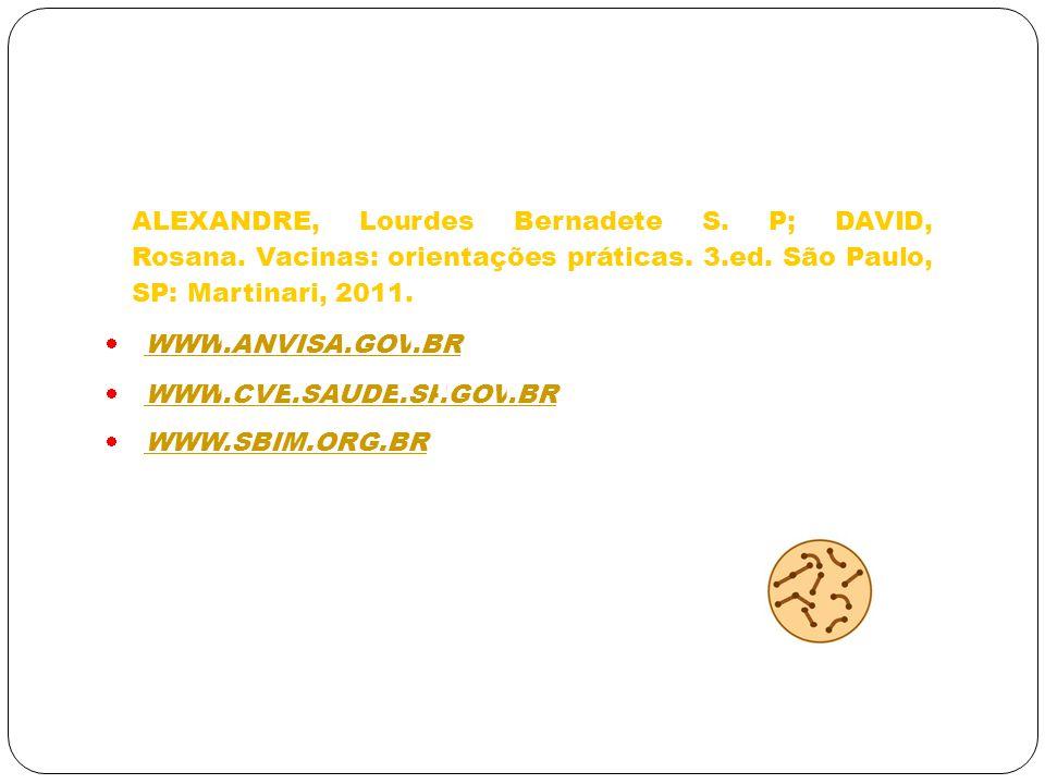 ALEXANDRE, Lourdes Bernadete S. P; DAVID, Rosana
