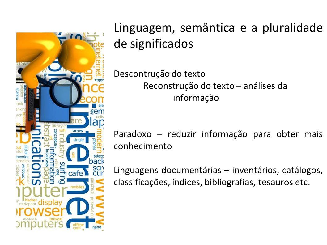 Linguagem, semântica e a pluralidade de significados