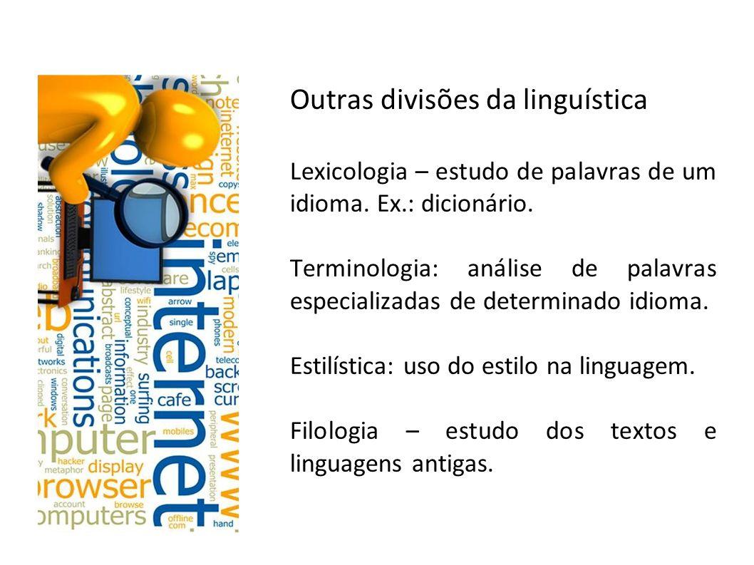 Outras divisões da linguística