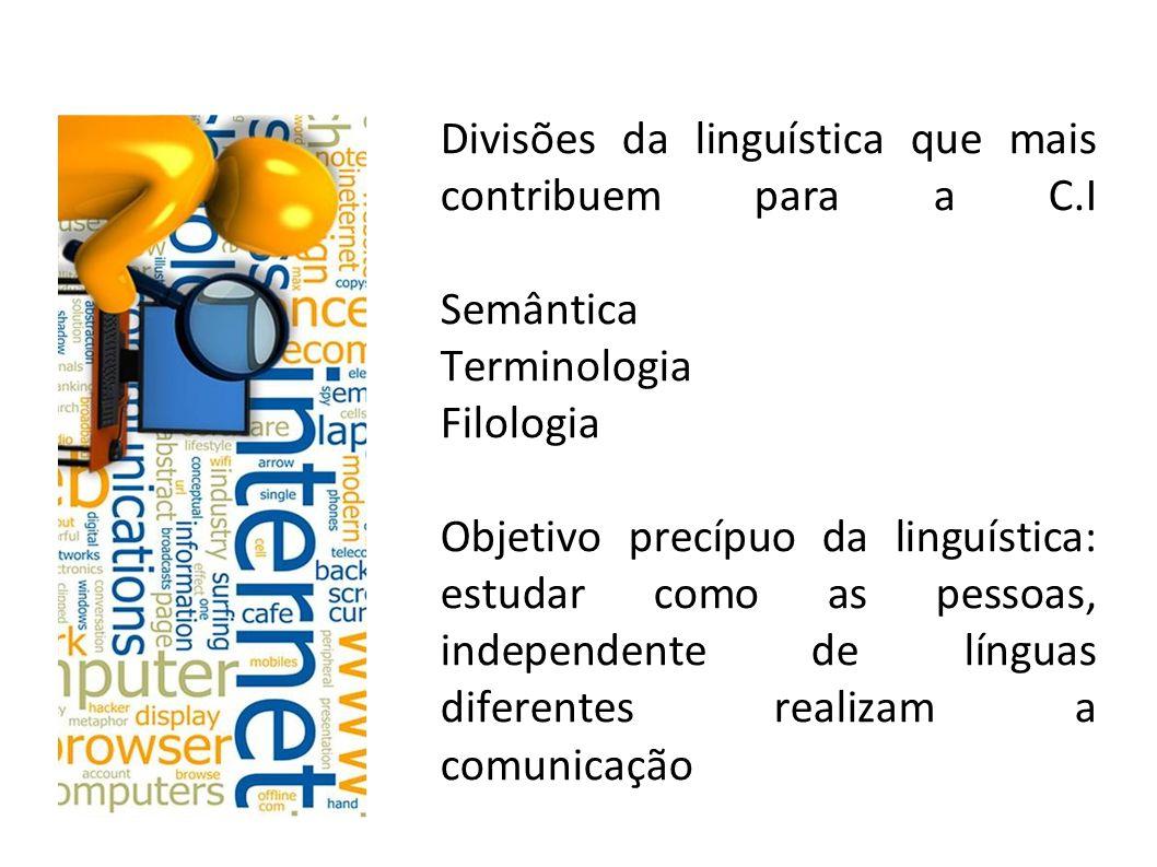 Divisões da linguística que mais contribuem para a C.I