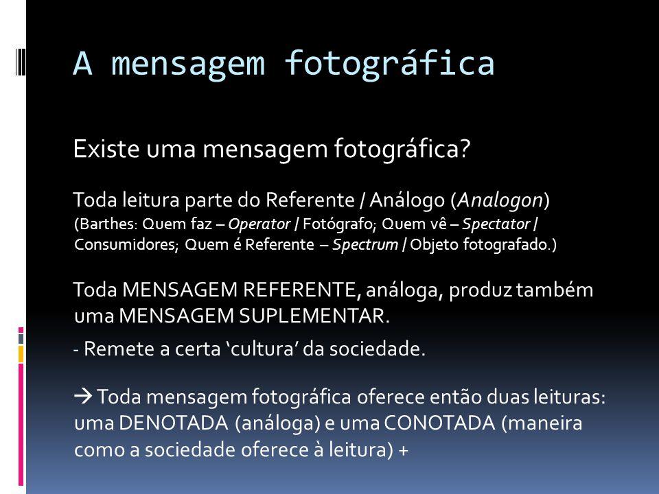A mensagem fotográfica