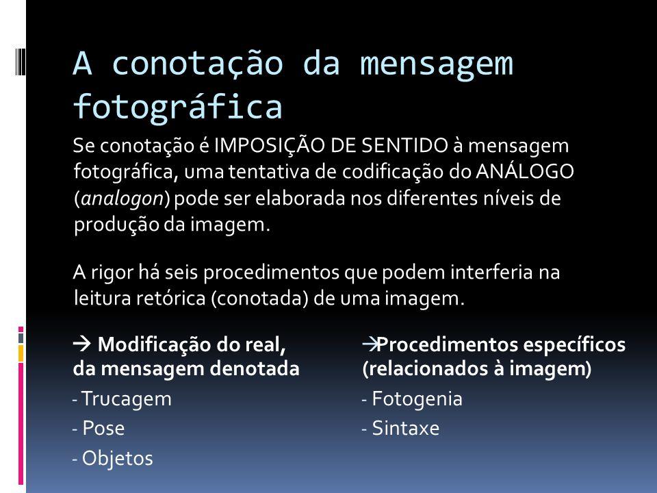 A conotação da mensagem fotográfica