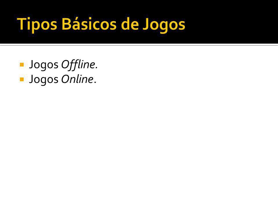 Tipos Básicos de Jogos Jogos Offline. Jogos Online.