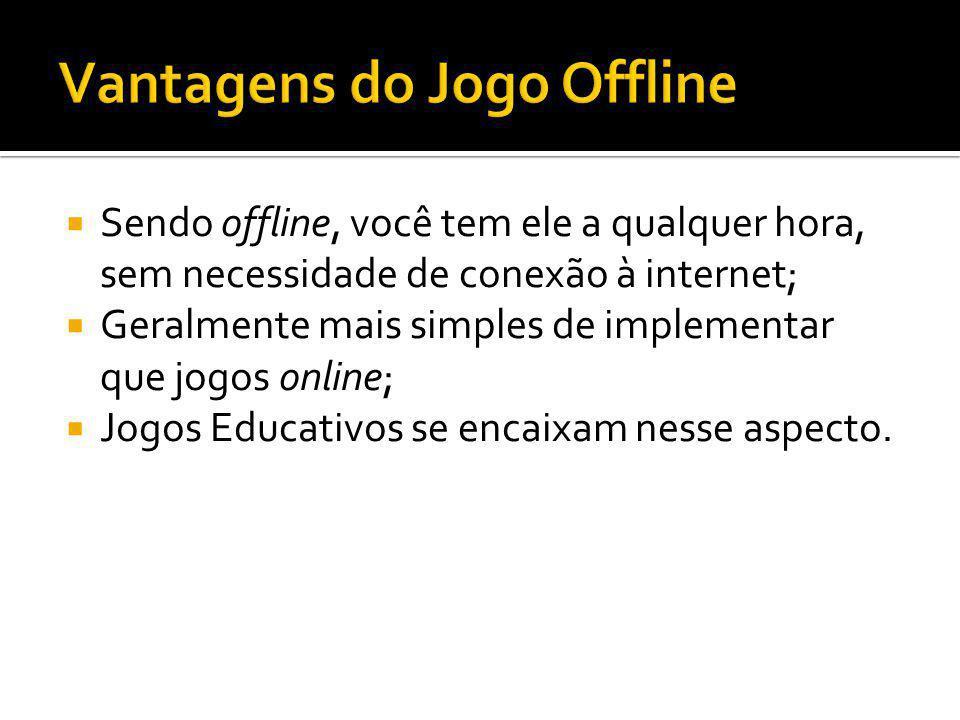 Vantagens do Jogo Offline