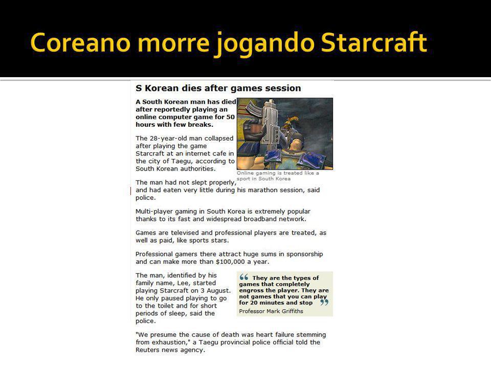 Coreano morre jogando Starcraft