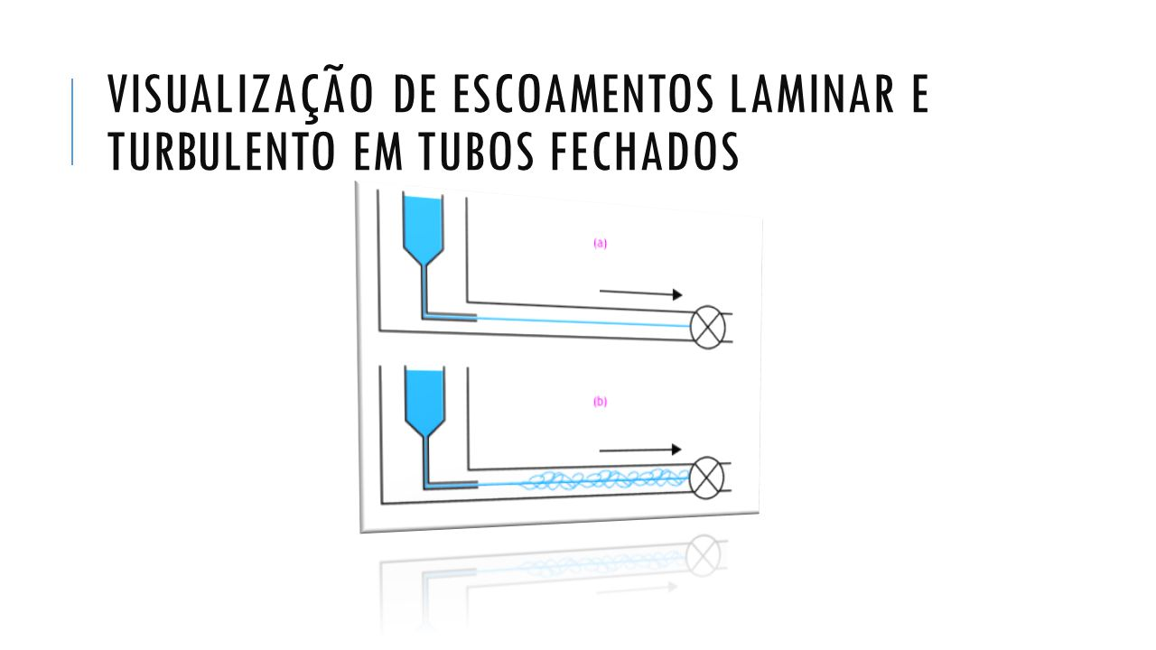 Visualização de Escoamentos Laminar e Turbulento em Tubos Fechados