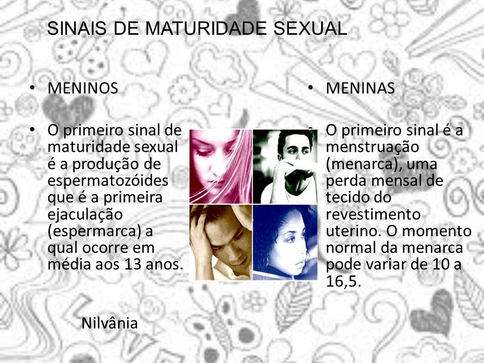 SINAIS DE MATURIDADE SEXUAL