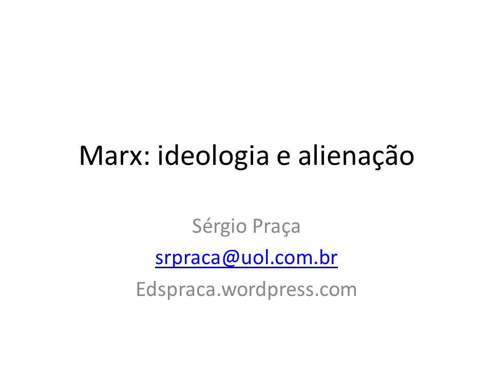 Marx: ideologia e alienação