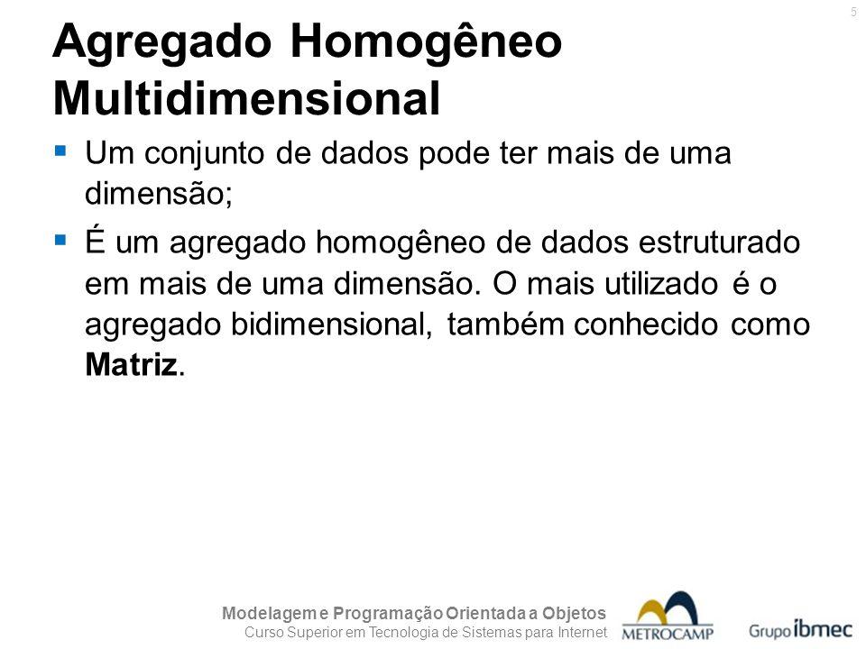 Agregado Homogêneo Multidimensional