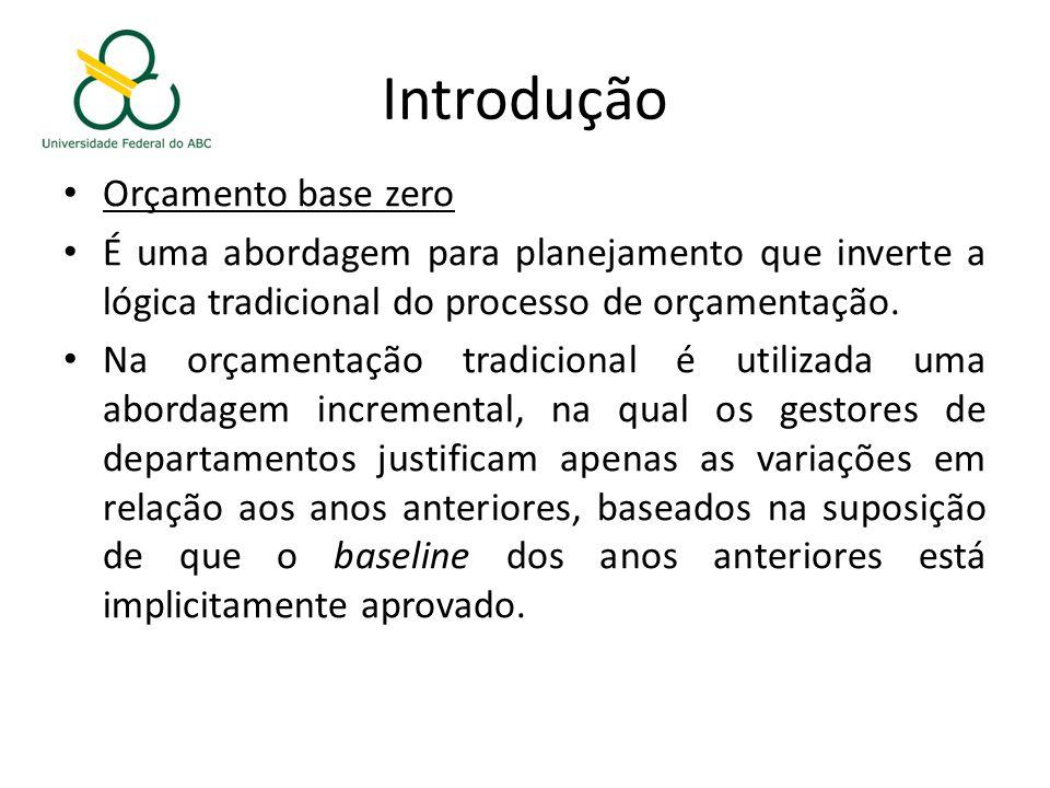 Introdução Orçamento base zero