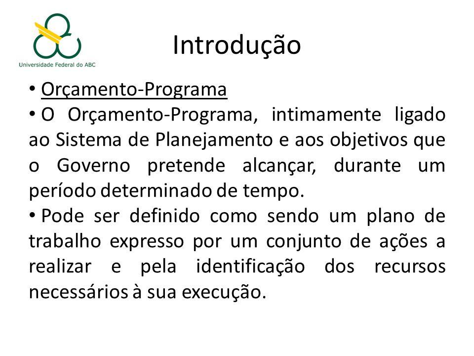 Introdução Orçamento-Programa