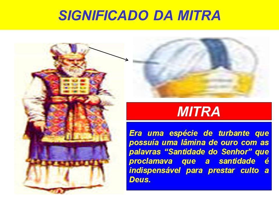 SIGNIFICADO DA MITRA MITRA