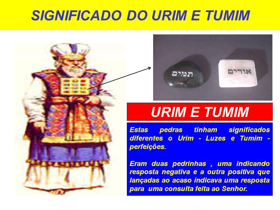 SIGNIFICADO DO URIM E TUMIM
