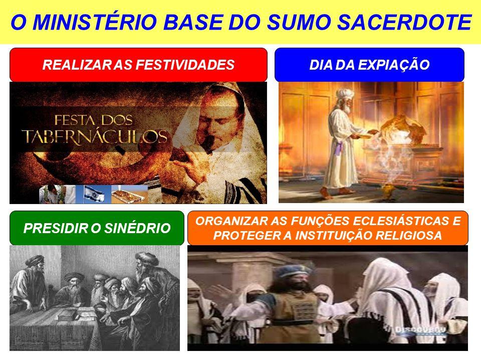 O MINISTÉRIO BASE DO SUMO SACERDOTE
