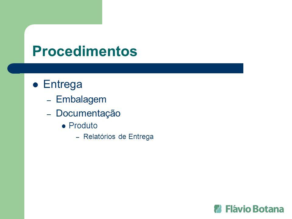 Procedimentos Entrega Embalagem Documentação Produto