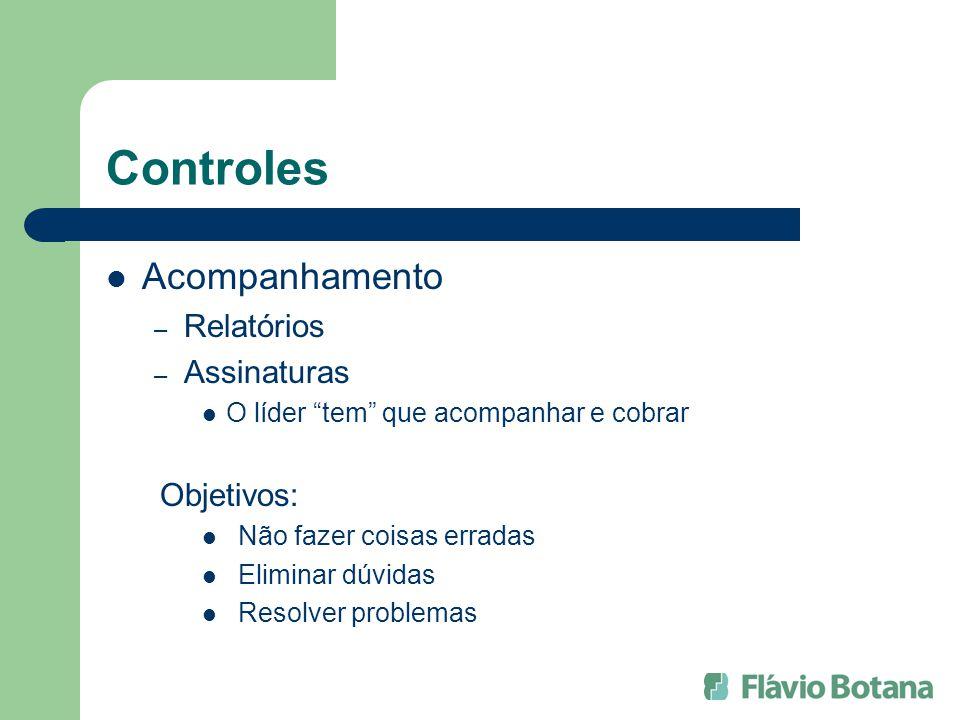 Controles Acompanhamento Relatórios Assinaturas Objetivos: