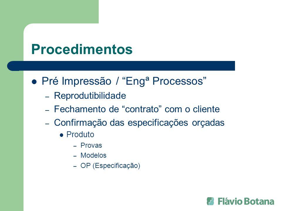 Procedimentos Pré Impressão / Engª Processos Reprodutibilidade