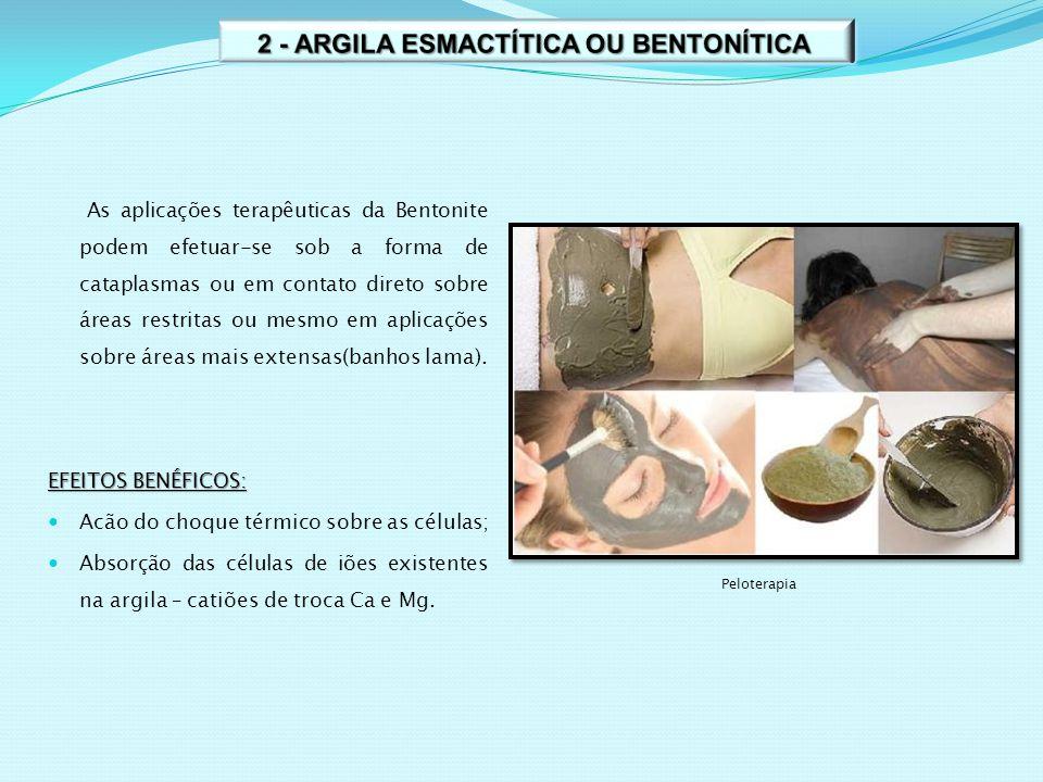 2 - ARGILA ESMACTÍTICA OU BENTONÍTICA