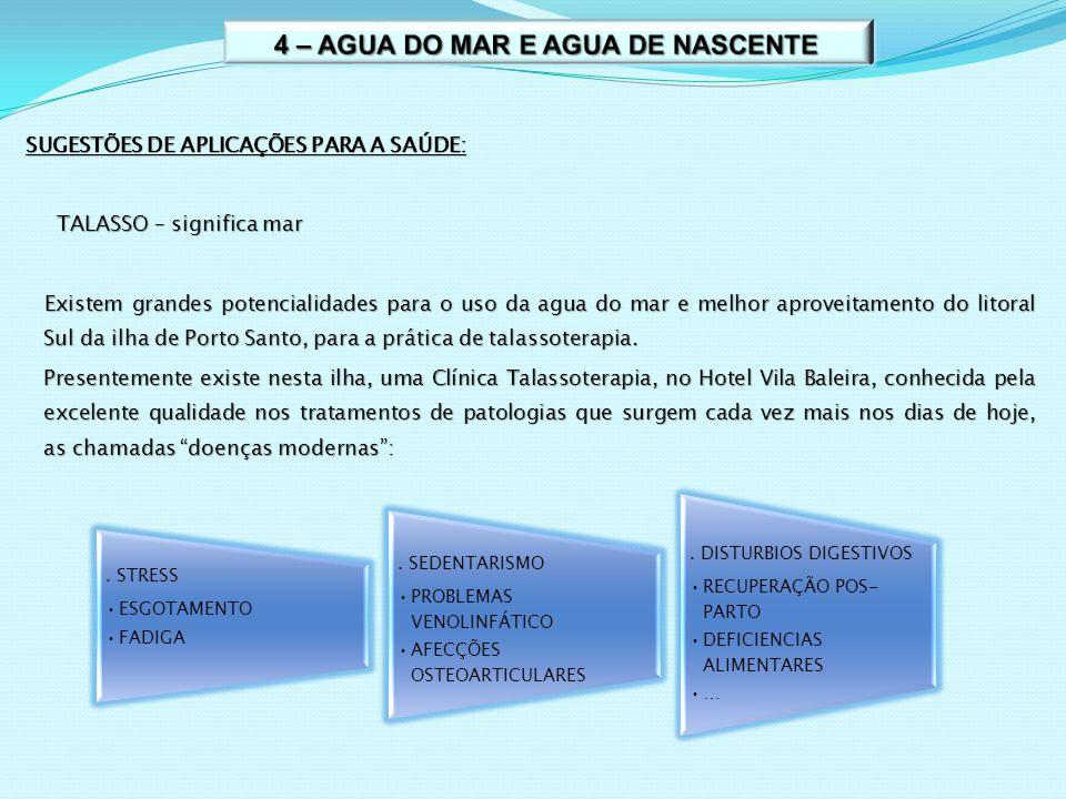4 – AGUA DO MAR E AGUA DE NASCENTE