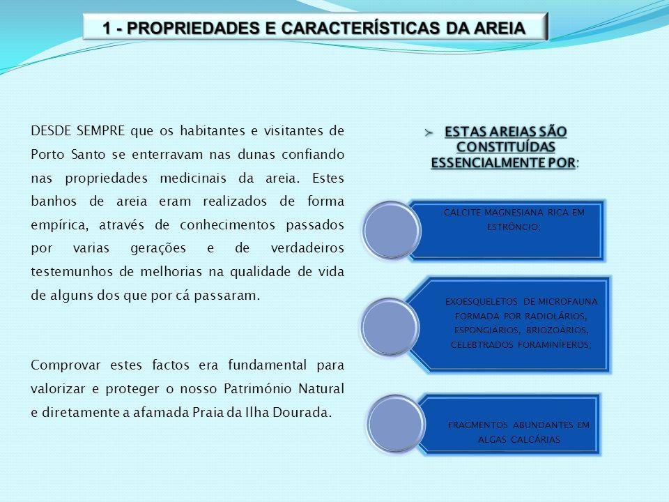 1 - PROPRIEDADES E CARACTERÍSTICAS DA AREIA