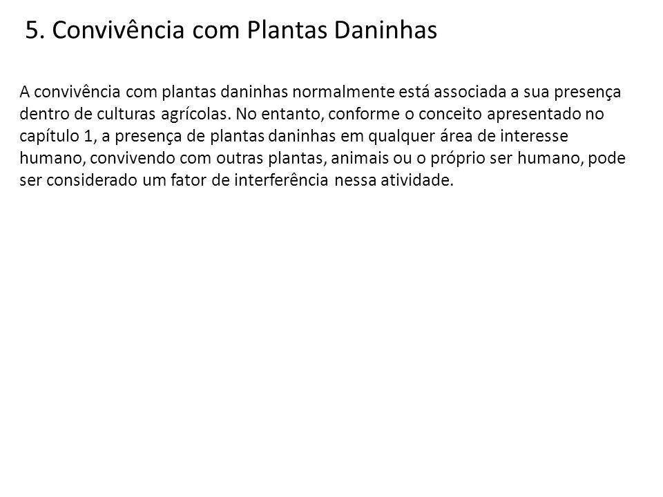 5. Convivência com Plantas Daninhas