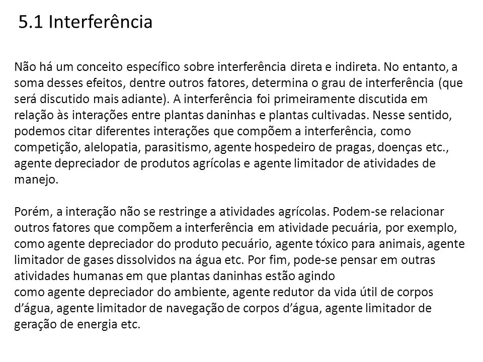 5.1 Interferência