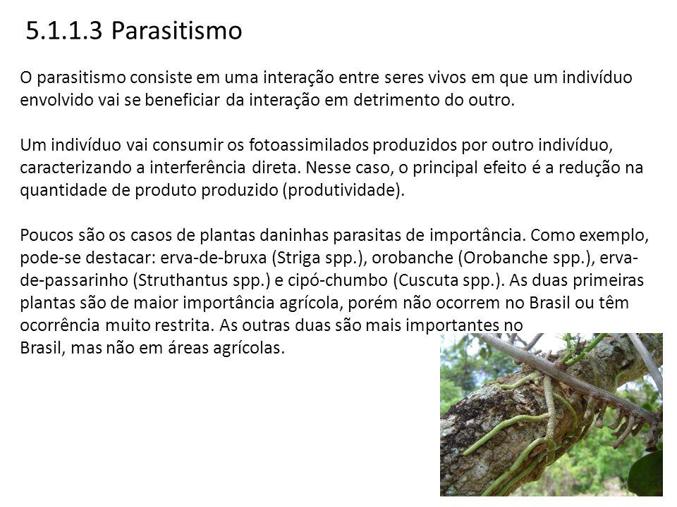 5.1.1.3 Parasitismo