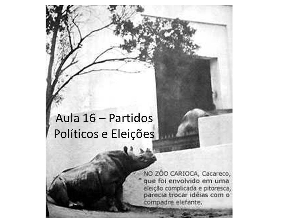 Aula 16 – Partidos Políticos e Eleições