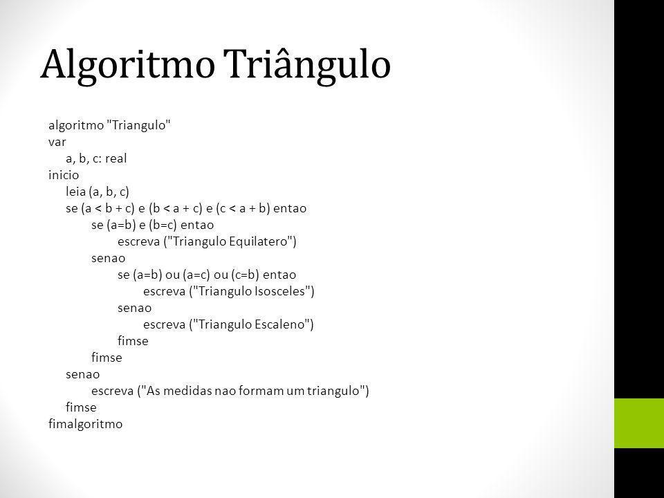 Algoritmo Triângulo