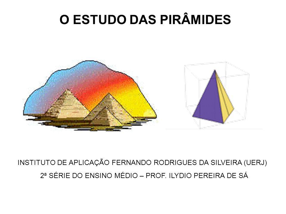 2ª SÉRIE DO ENSINO MÉDIO – PROF. ILYDIO PEREIRA DE SÁ