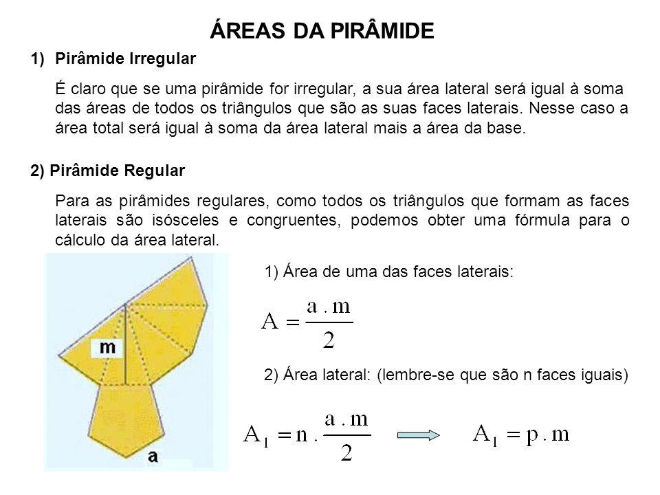 ÁREAS DA PIRÂMIDE Pirâmide Irregular