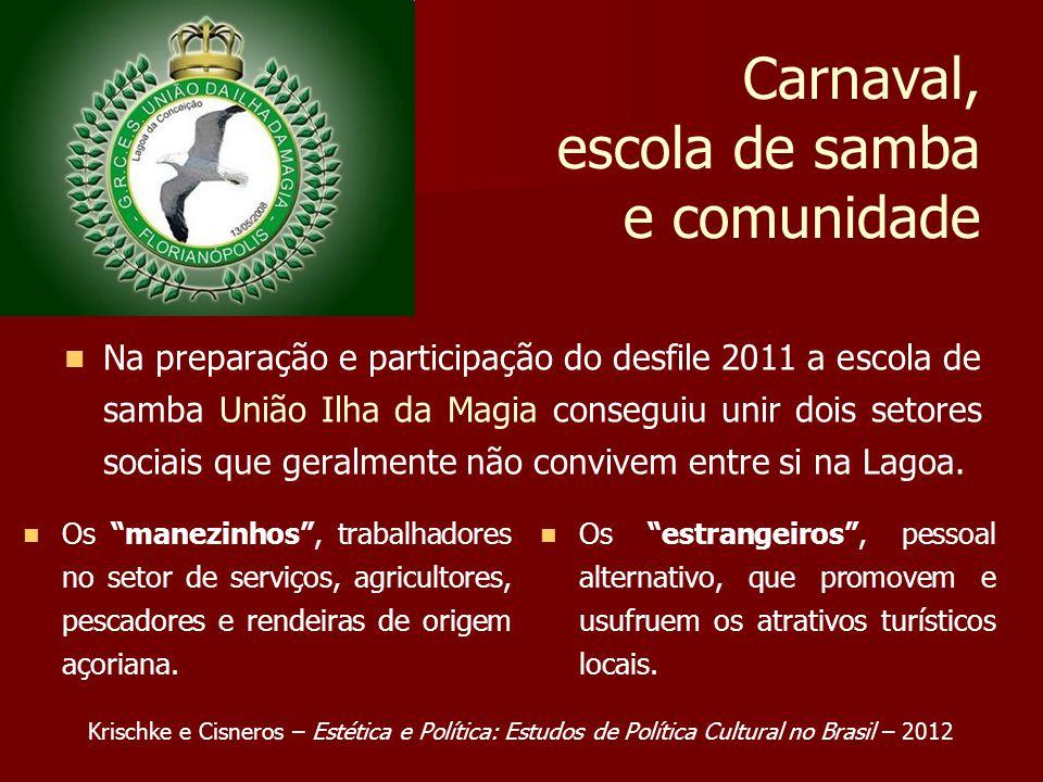 Carnaval, escola de samba e comunidade