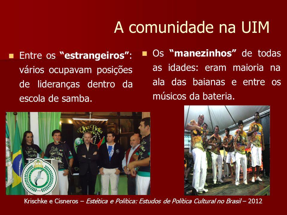 A comunidade na UIM Os manezinhos de todas as idades: eram maioria na ala das baianas e entre os músicos da bateria.