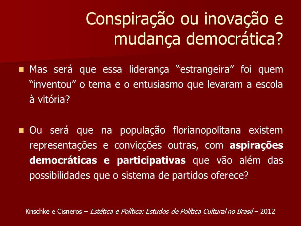 Conspiração ou inovação e mudança democrática