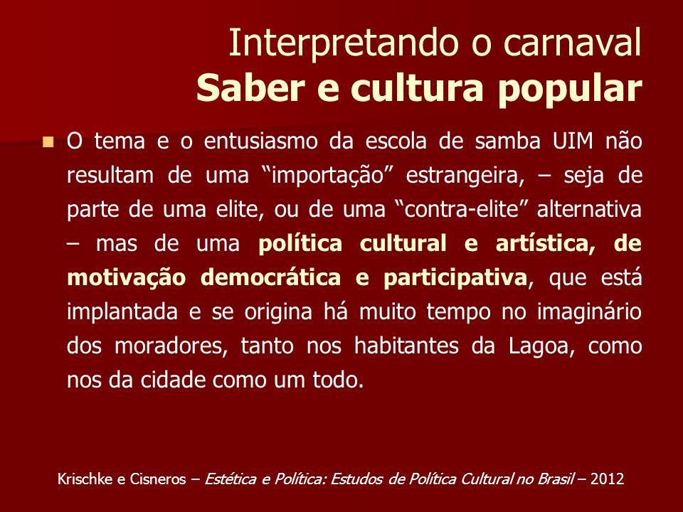 Interpretando o carnaval Saber e cultura popular
