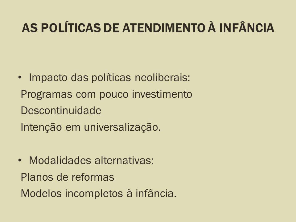 AS POLÍTICAS DE ATENDIMENTO À INFÂNCIA
