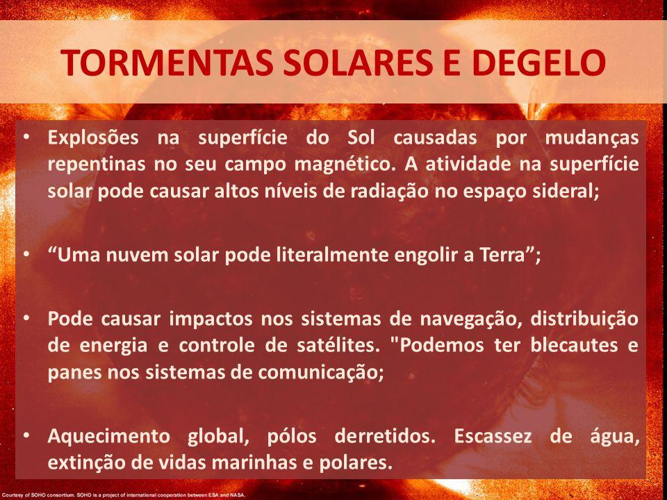 Tormentas solares e degelo