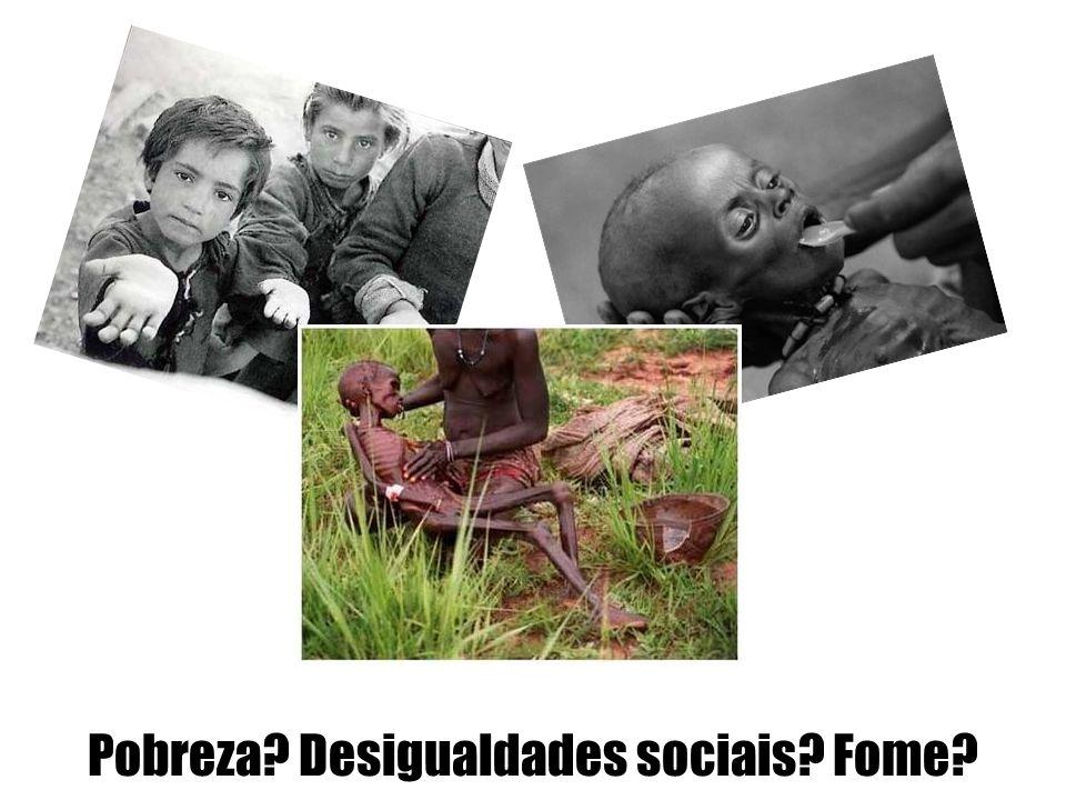 Pobreza Desigualdades sociais Fome