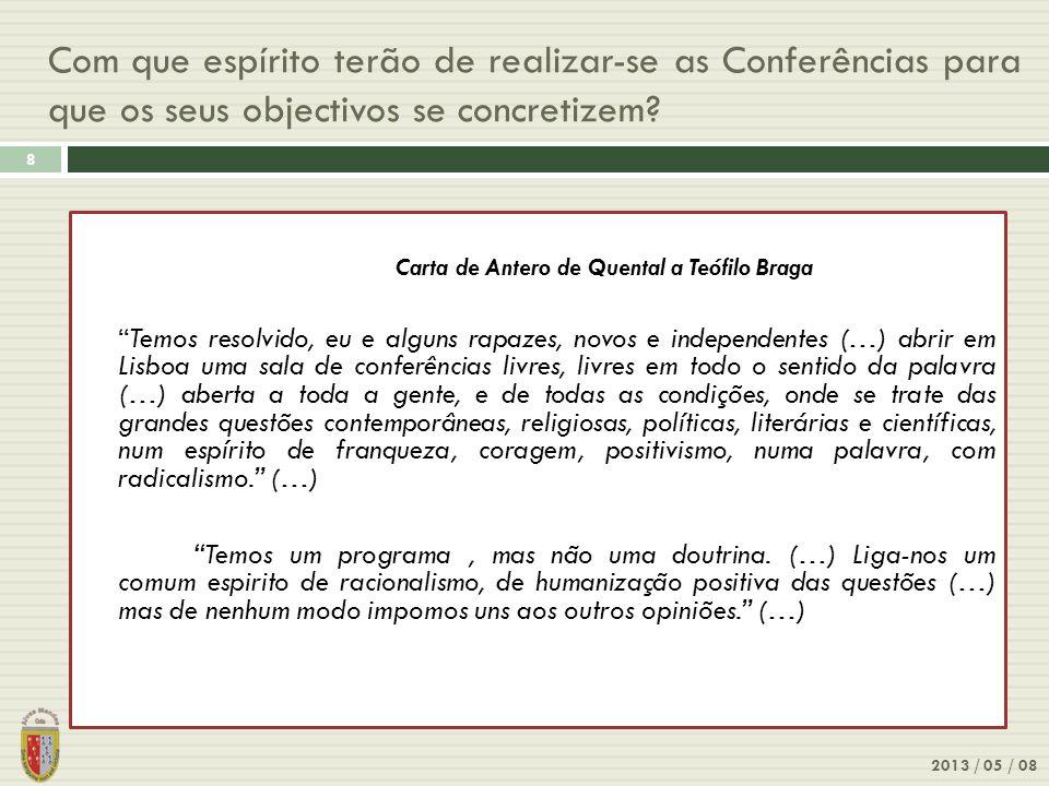 Com que espírito terão de realizar-se as Conferências para que os seus objectivos se concretizem