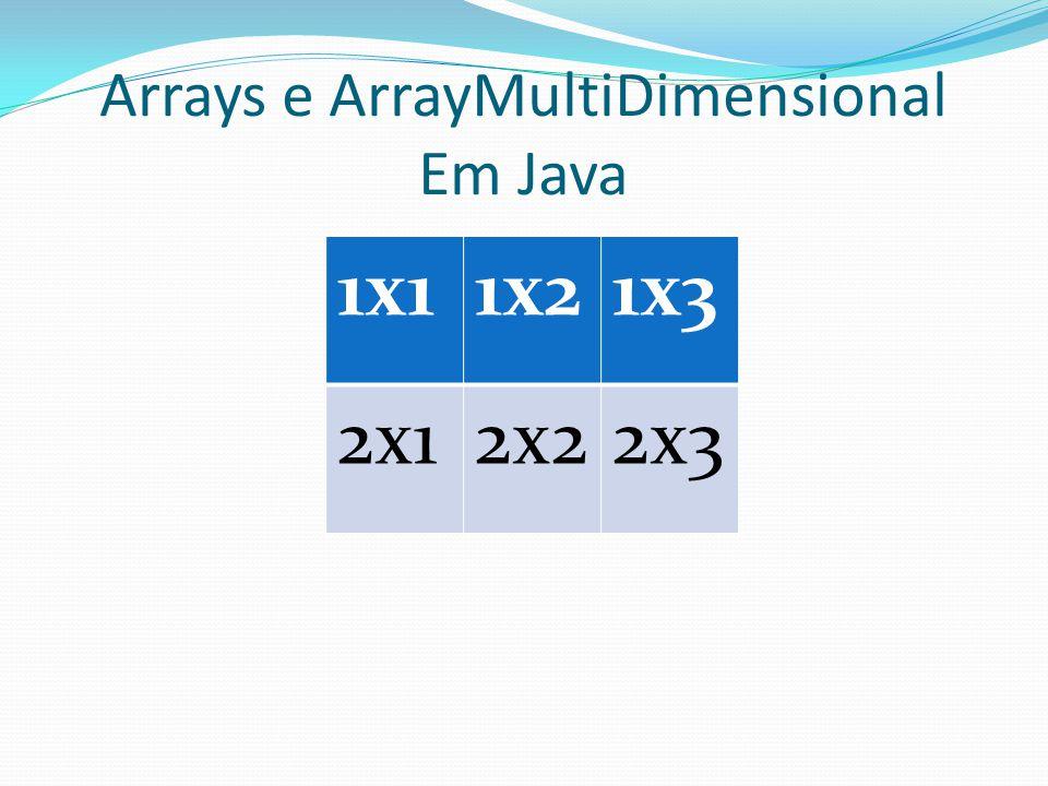 Arrays e ArrayMultiDimensional Em Java